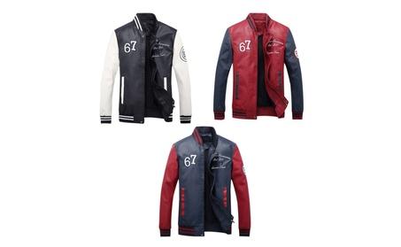 Men's Lightweight Embroidery Sport Leather Jackets 2a0e11c8-1698-4057-b4f3-049d7dec4153