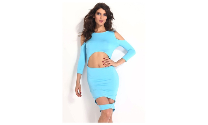 Women's Sexy Devastating Hollow outs Bodycon Dress