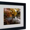 Kurt Shaffer 'Kendal Lake Autumn' Matted Black Framed Art