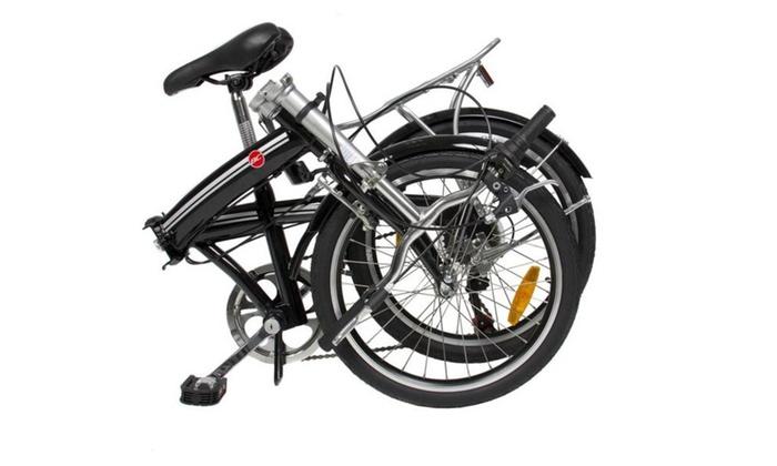 Folding Bike 20 Shimano 6 Speed Bike Fold Storage Black Groupon