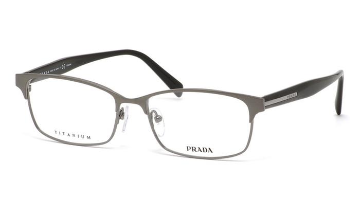 2c6c1f4a6fe Prada Eyeglasses PR62RV DHG101 56 Grey Frames   Clear Lenses