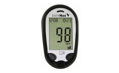 EasyMax V Talking Self-Monitor Blood Glucose System Meter Travel e4864ea9-785f-4071-a20e-5d945d859430