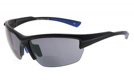 Bifocal Sunglasses Quality TR90 Frame Half-Rimless Windproof Driving Readers Men