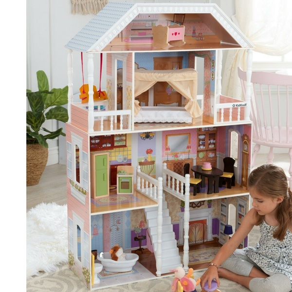 Barbie Dream House Size Dollhouse Furniture Girls Playhouse Play Fun Townhouse