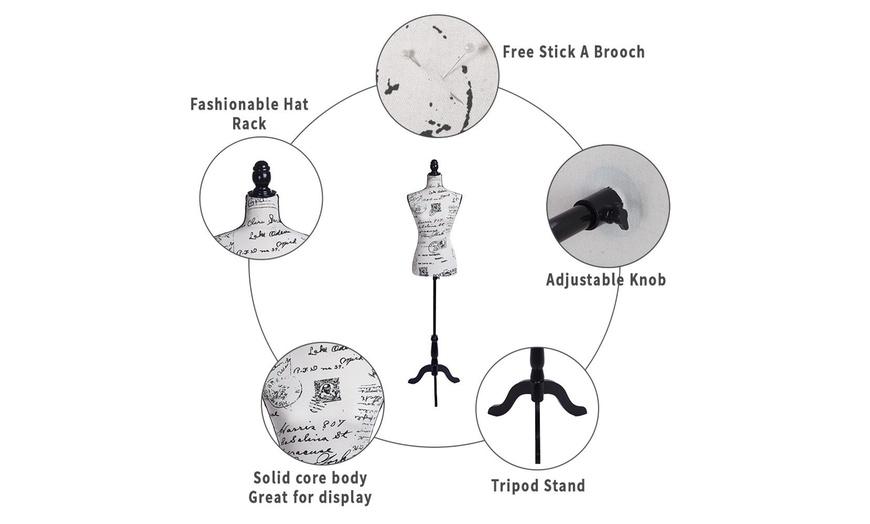 Retail Store Fixtures & Equipment Black Female Mannequin Torso ...