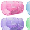 Sunbeam 3 Compartment Mesh Laundry Sorter, PINK or GREEN