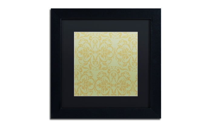 Groupon Goods: Color Bakery 'Annabelle Lee V' Matted Black Framed Art