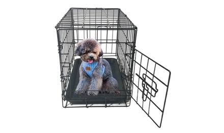 20''-48'' Double-Door Folding Metal Pet Carrier Dog Crate Wire Cage Black Was: $49 Now: $26.99.