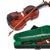 Full Size 4/4 Violin Solid Wood with Hard Case Bow Rosin Bridge