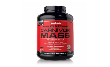 MuscleMeds Carnivor Mass Anabolic Beef Protein Gainer, 6lbs