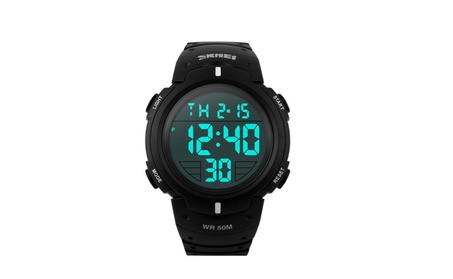 Fashion Waterproof Men's LED Digital Stopwatch Date Sport Watch 549f1971-2f06-4e22-841d-cb676d3834a6