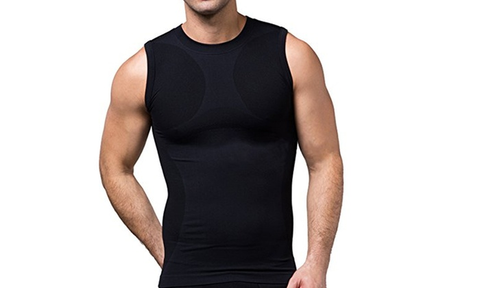 653e7432b5b New Tight Men Body Shaper Vest Tank Top Slimming Compression Undershirt