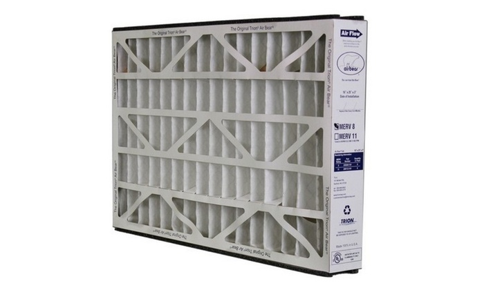 "Trion Air Bear 255649-101 - Pleated Furnace Air Filter 16""x25""x3"" MERV"