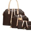 Women 4Pcs Handbags Set Elegant Zipper PU Business Shoulder Handbags