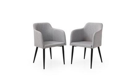 Modern Jason Living Room Accent and Dining Arm Chair, Set of 2