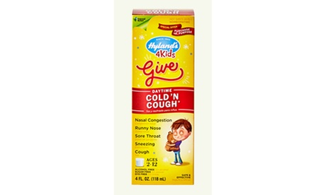 Hyland's Homeopathic 4 Kids Cold and Cough Relief Liquid Natural, 3 Count