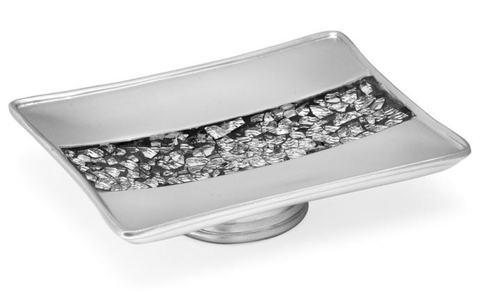 Sinatra Silver Bath Collection Soap Dish Groupon