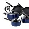 Cook N Home 10-Piece Nonstick Cookware Set - Blue