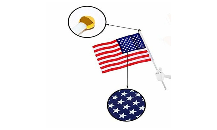 ad650bc0ece8 USA Stick flag Small Mini Flag 50 Pack Hand Held Decoration Flag ...