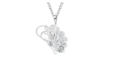 Hollow Butterfly Flying Wings Pendant Necklace 6439f9ba-4456-4f46-9c15-5f0b624c5bdc