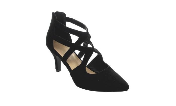 AC23 Women's Criss Cross Kitten Stiletto Heels(Half A Size Small)