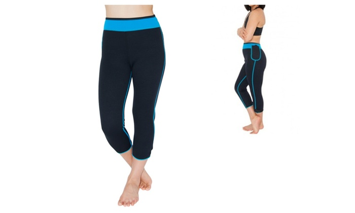 Soft Polyester Capris Elastic Closure with Pocket