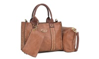 3-Set MK Belted Collection Crossbody Wristlet & Satchel Bag