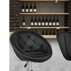 Amazing 1Pc Adjustable Modern Swivel Round Tufted Back Accent Chair Cjindustries Chair Design For Home Cjindustriesco
