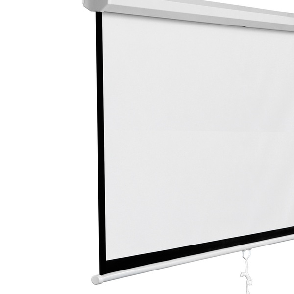 """White Manual Projection Screen Pull Down Matte Home HD Movie Theater 120/"""" 1:1"""