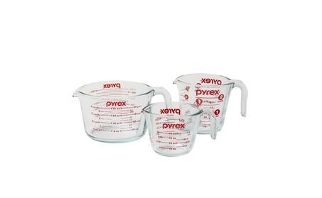 Pyrex 3-Piece Glass Measuring Cup Set d010bc1d-d77c-4f97-86e1-29a3a9c04d03