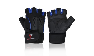 OnyxTact Workout Gloves with Wrist Wrap Support for Gym Weightlifting