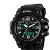 Men's Dual Dial Digital Quartz Waterproof Sport Watch