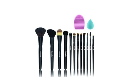 Natural Hair Makeup Brushes 12 Set Professional Makeup Cosmetic Beauty 21a8c0b0-b383-4f2d-804f-8552018c1c84