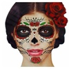 Glitter Red Roses Day of the Dead Sugar Face Tattoo