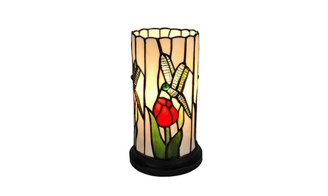"AM089ACC Tiffany Style Dragonfly Mini Table Lamp 10"" Tall 28d6446b-5090-4969-a4fc-147509983517"