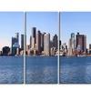 Boston Skyline Panorama Cityscape Photo Metal Wall Art 48x28 4 Panels