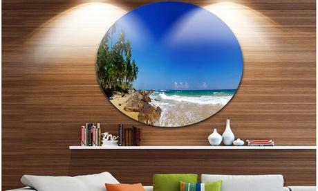 Tropical Paradise' Disc Landscape Photography Circle Metal Wall Art 44a0f8f7-c672-43f3-b4fd-8bfa5a3567dd