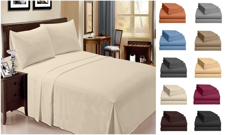 6 Piece Bamboo Sheet Set w/ 18 Inch Deep Pocket by LuxClub - 10 Colors - Group 1