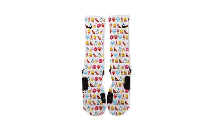 Custom Diva Emoji Nike Elite Socks