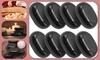 8-Piece Massage Stones - Black Basalt Hot Stone Spa Set- Body Stress Pain Relief