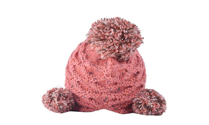 Women's Insulated Double Layer Round Crown Simple Woollen Hat