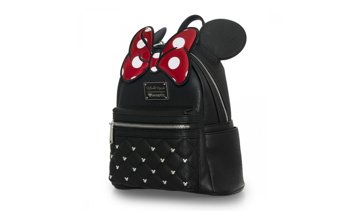 1ef7c62fd2f Loungefly x Minnie Mouse Bow Mini Faux Leather Disney Backpack   Groupon