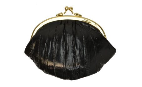 Eel Skin Large Double Coin Purse Change Wallet (Goods Women's Fashion Accessories Wallets) photo