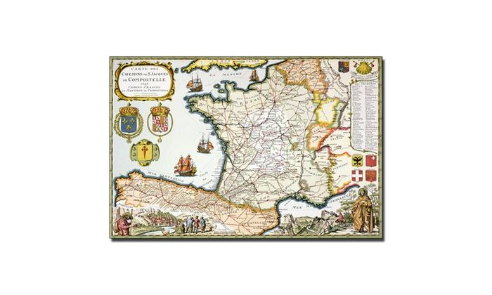 D serveaux map of routes of st james 1648 canvas art groupon d serveaux map of routes of st james 1648 canvas art gumiabroncs Images