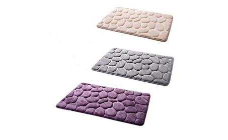 Carpet Floor Pebble Flannel Bathroom Bath Rug Foam Mat 2ff00215-c4de-46ce-a226-e8d29fe033a5