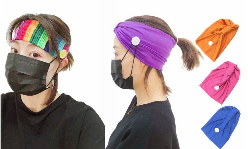 Headbands with Buttons Holder for Nurses,Doctors and Everyone Soft
