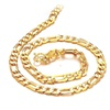 18k Gold Plated Fashion Men's Chain Necklace Link Neckwear