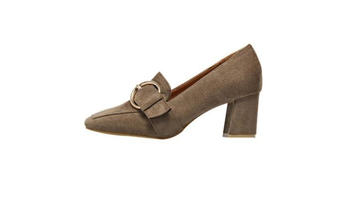 Women's Casual Slip on High Heels