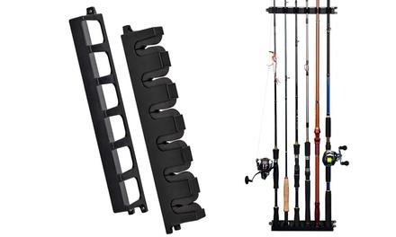 6 Rods Horizontal Or Vertical Fishing Rod Rack Stand Holder Bracket
