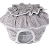 Dog Diapers Female with Bow Grey Polka Dot